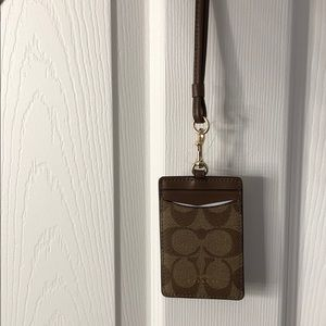 Coach Lanyard and Cardholder